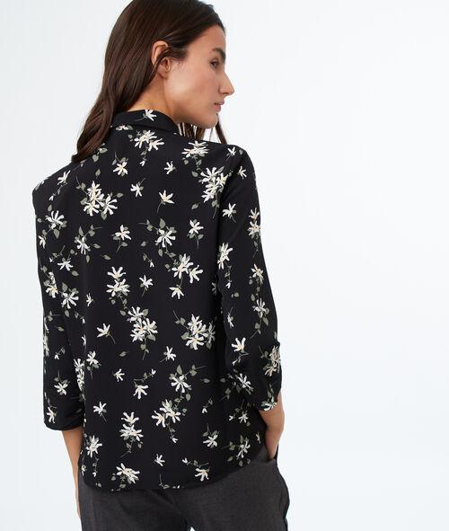 Blusa mangas 3/4 estampado floral