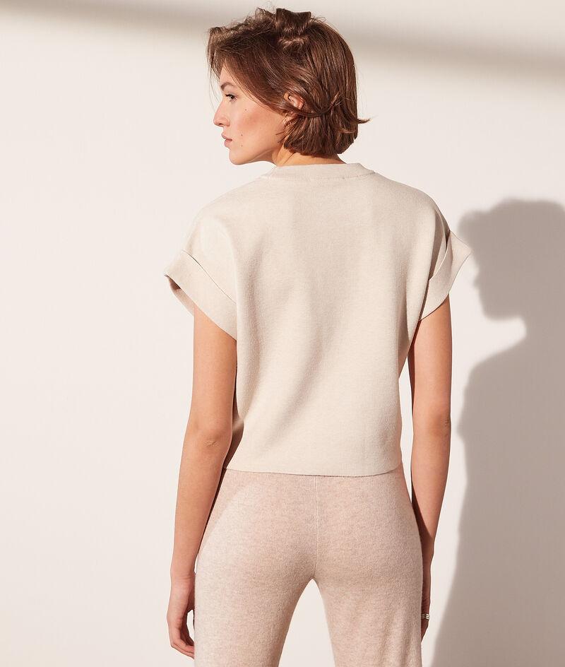 Jersey de punto fino, manga corta