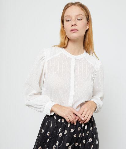 Camisa de plumetis