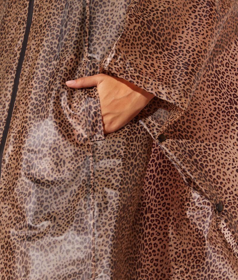 Cape imperméable léopard