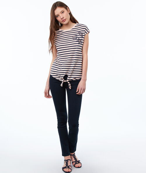 Camiseta manga corta estampado rayas