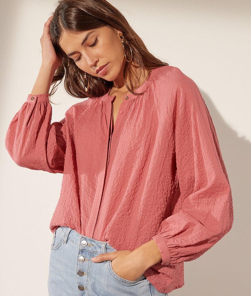 Blusa mangas abullonadas de algodón