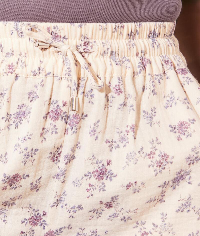 Pantalón corto estampado algodón