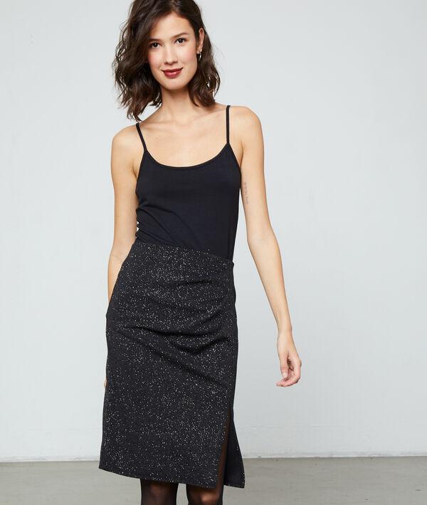 Falda midi con apertura