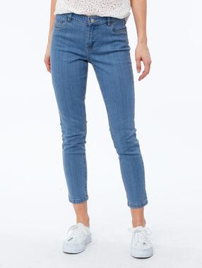 Pantalón vaquero pitillo 7/8 azul.