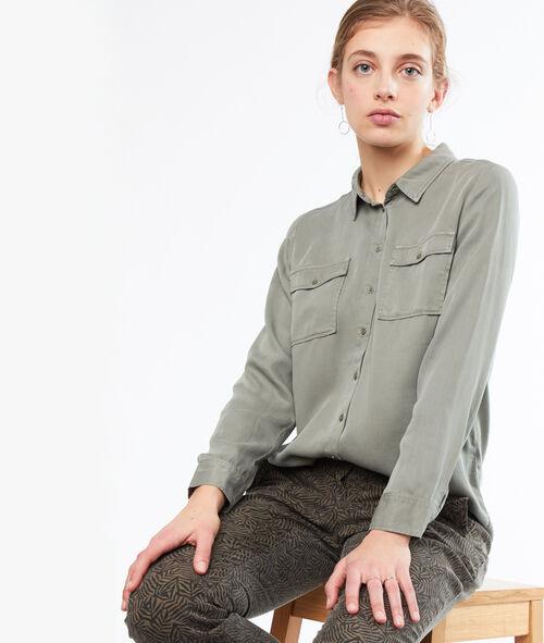 Camisa dos bolsillos tencel