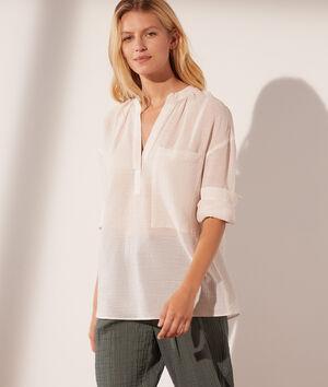 Blusa de finas rayas de algodón