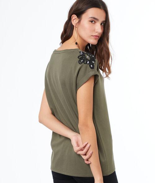 Camiseta manga corta bordados