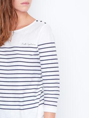 Camiseta estampado marinero azul marino.