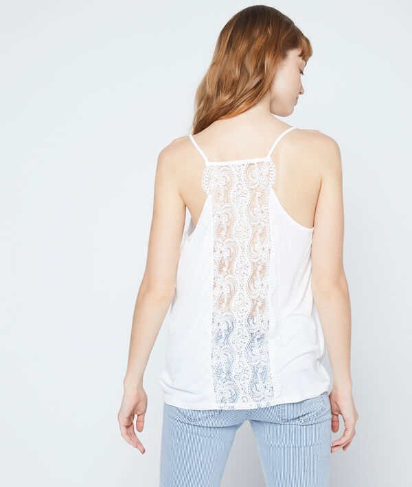 Camiseta espalda escotada de encaje