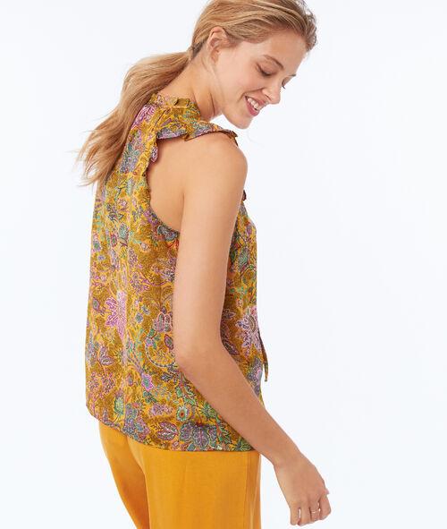 Blusa sin mangas estampado floral