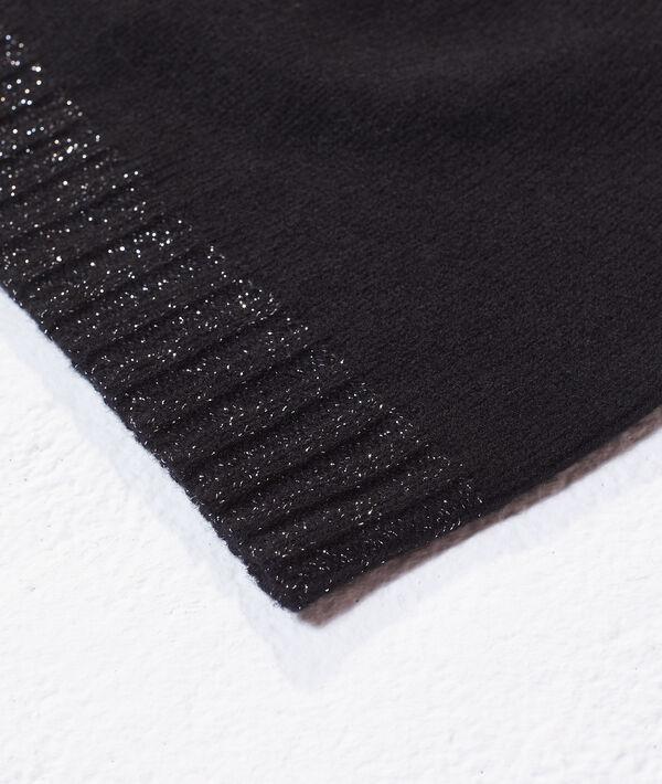 Bonnet à fils métallisés en cachemire et laine