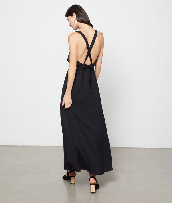 Vestido espalda cruzada anudada