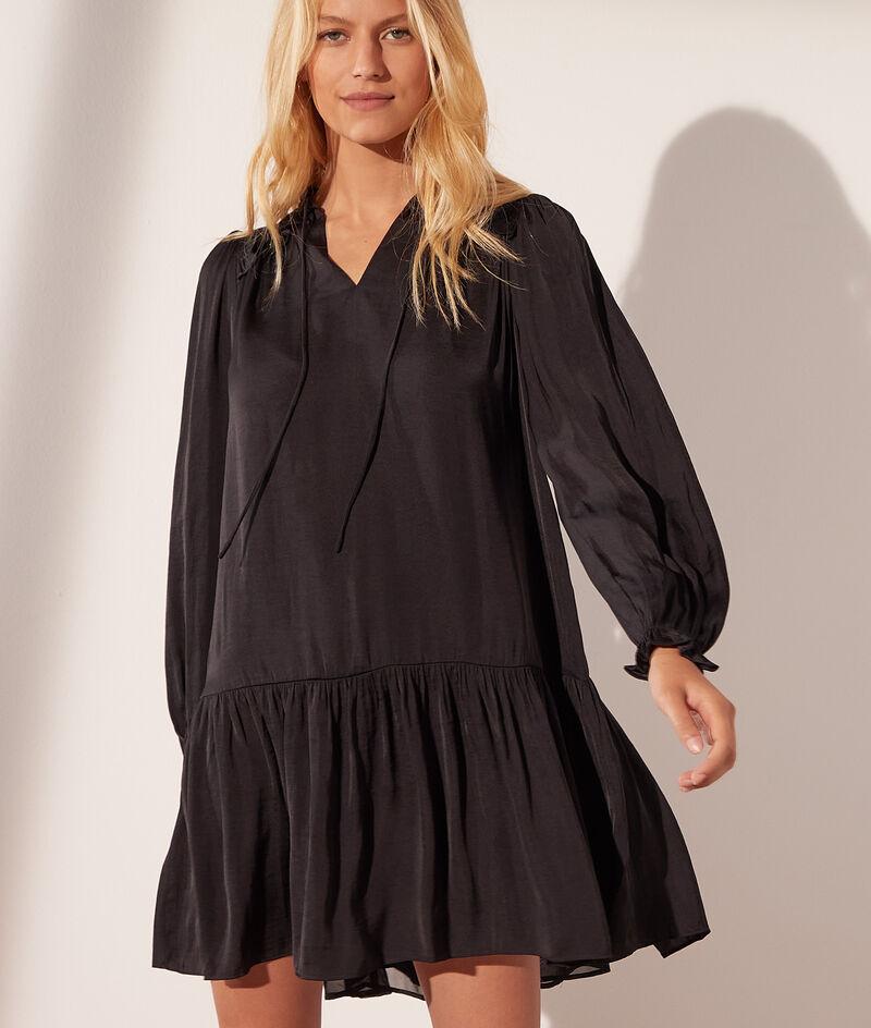 Vestido corto de satén