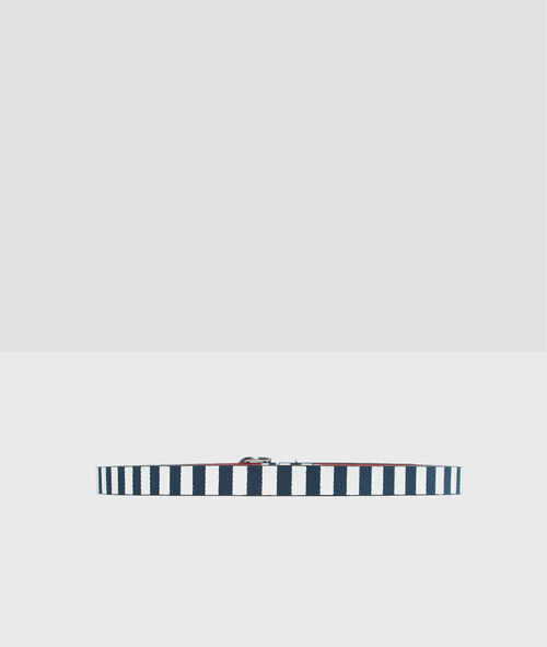 Cinturón estampado a rayas