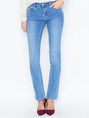 Pantalón tejano recto azul.