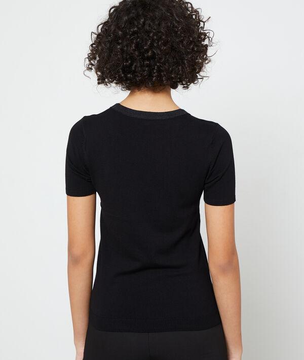 Jersey de manga corta y punto fino