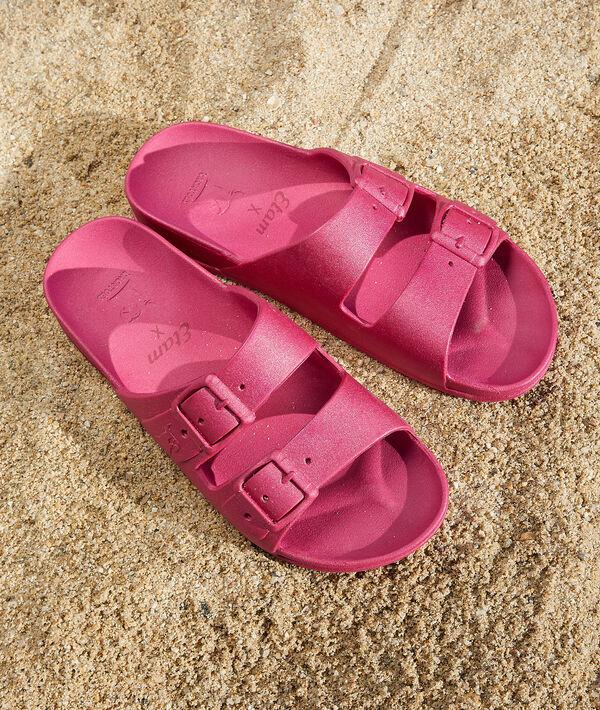 Sandalias con purpurina