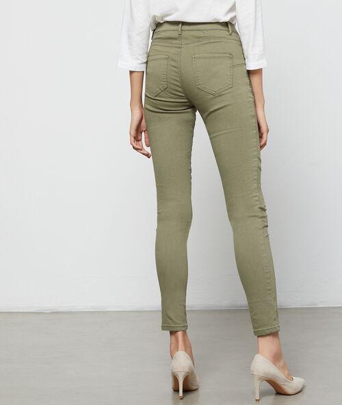 Pantalón estrecho bolsillos con cremallera