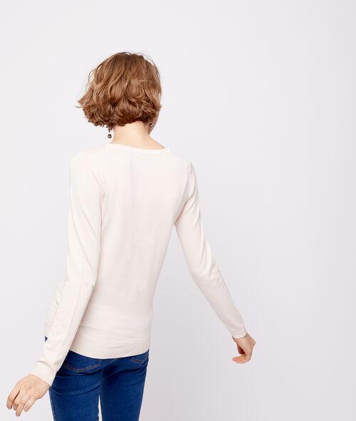 Jersey de punto fino con cuello abotonado