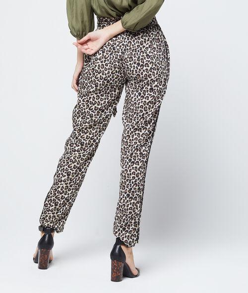 Pantalón alto con estampado de leopardo