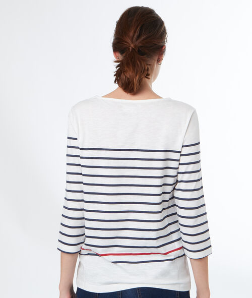 Camiseta estampado a rayas estilo marinero