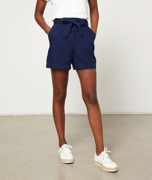 Pantalón corto anudado lazada