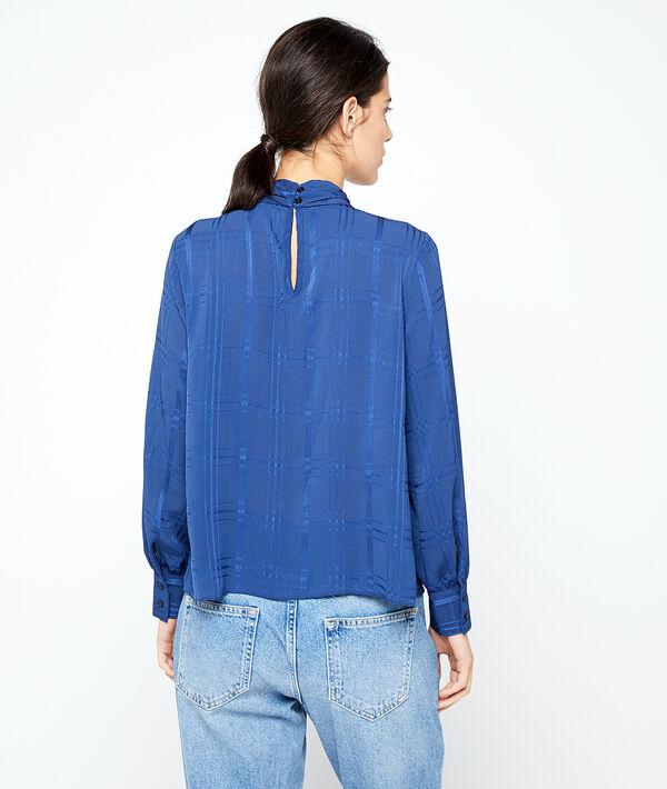 Blusa espalda abierta a cuadros