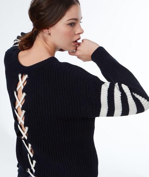 Jersey cordones cruzados en la espalda