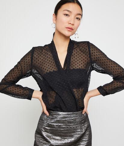 Blusa de plumetis, efecto transparente