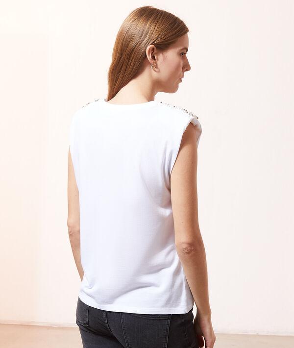 Camiseta con perlas