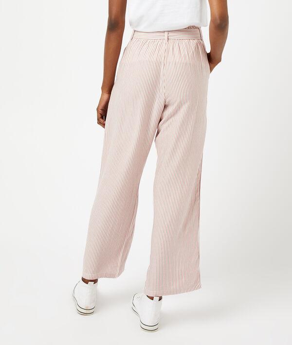 Pantalón ancho estampado de rayas