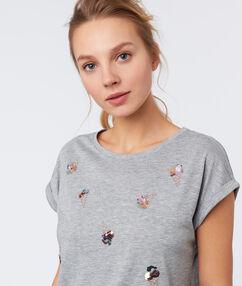 Camiseta manga corta cuello redondo c.gris.