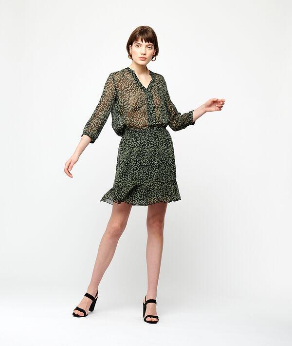 Falda de patinadora estampada
