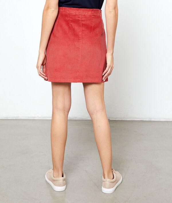 Falda de pana acanalada