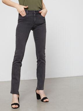 Pantalón vaquero recto c.gris.