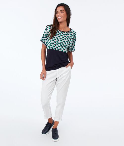 Camiseta mangas 3/4 estampado pop