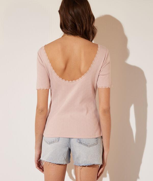 Camiseta apertura espalda