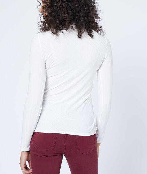 Camiseta a rayas de cuello largo