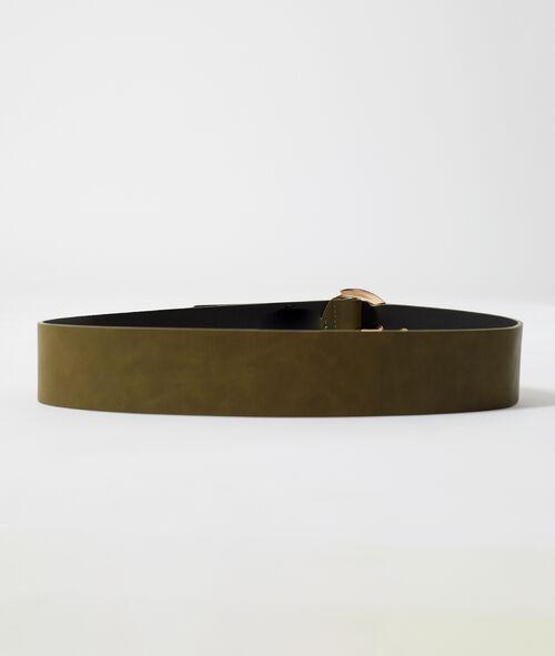 Cinturón ancho con hebilla
