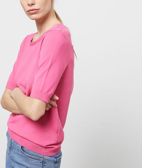 Jersey manga corta cuello redondo