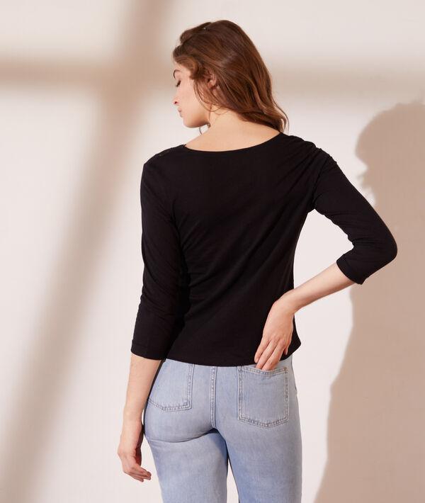 Camiseta manga larga, motivos de encaje