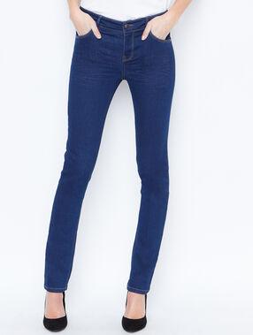 Pantalón vaquero pitillo azul.