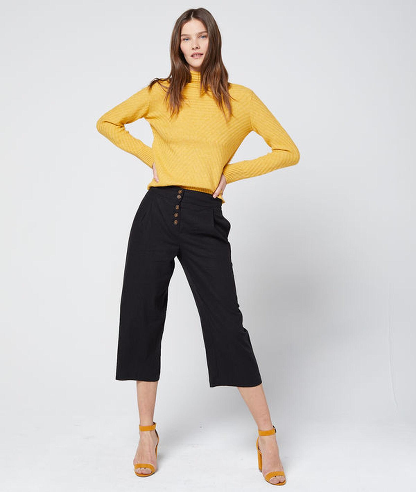 f0f636e309 Pantalón midi con botones - JANE - NEGRO - Etam