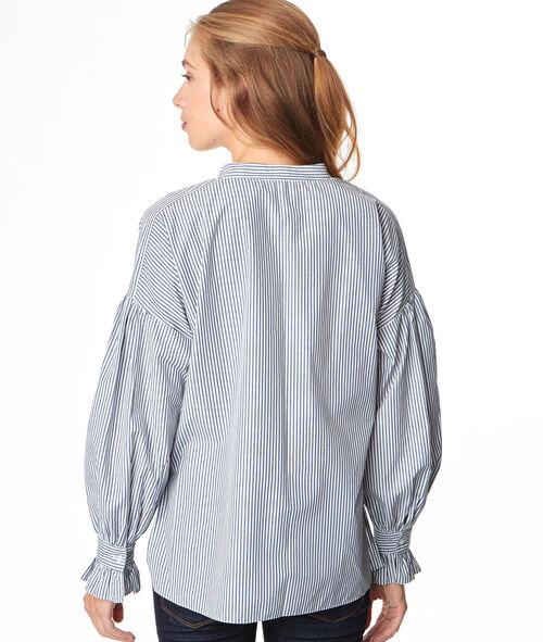 Chemise col V rayée