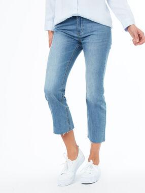 Pantalón vaquero 7/8 azul.