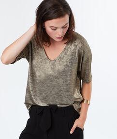 T-shirt en coton majoritaire dore.