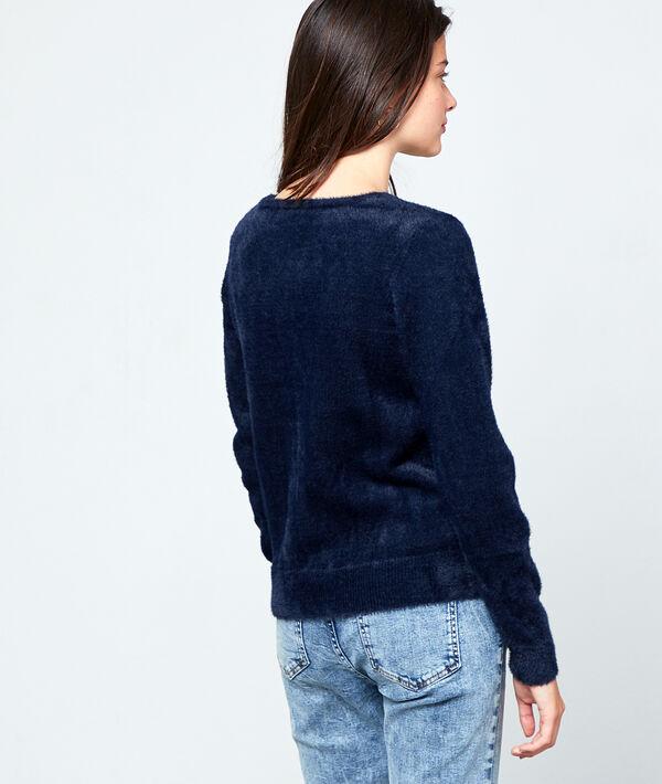 Suéter de punto esponjoso
