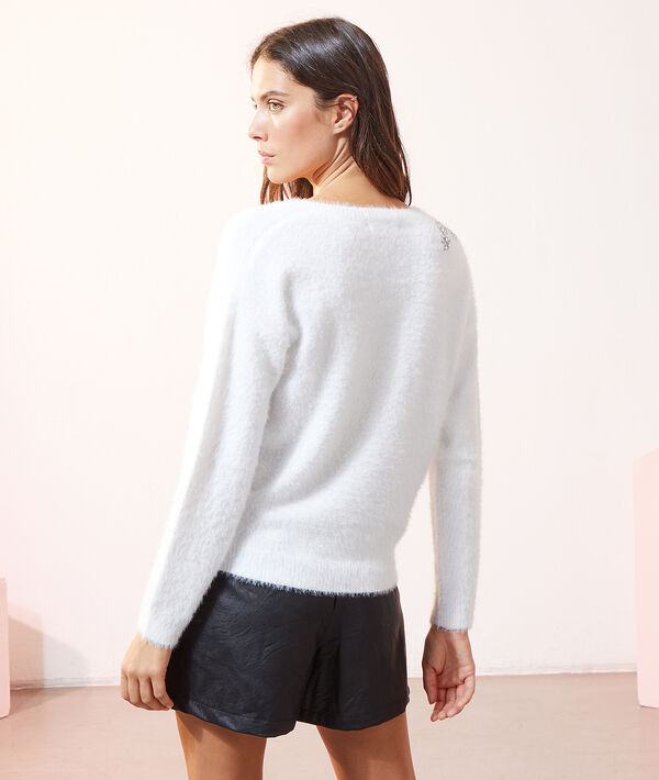 Pull en maille à strass