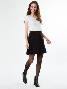 Falda patinadora negro.